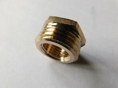 1/4 NPT Female - 1/2 NPT Male Brass Reducer /  Connector