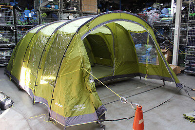 Vango Kratos 600XL 6 Berth Family Tunnel Tent ++ RRP £530.00 ++ 998 & VANGO Nadina 600 XL Tent Poles Set With Pegs Pack - £40.00 ...