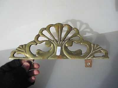 Antique Brass Finial Furniture Ormolu Hardware Vintage Old Mount Shell Fan Gilt