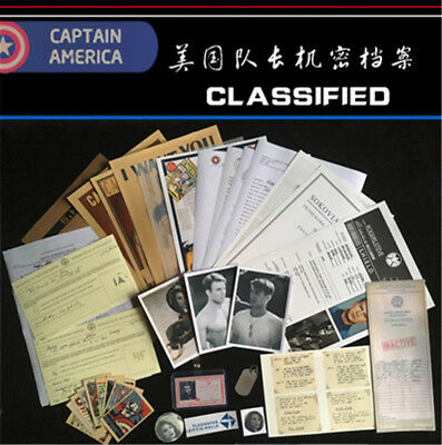 Marvel Captain America Steve Paper Document file +Folder collection Cosplay Gift