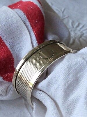 Napkin Ring English Sterling Silver Art Deco 1938 Vintage