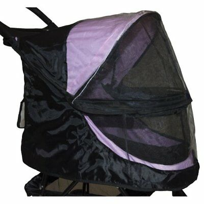 NEW Pet Gear Happy Trails Weather Cover for No Zip Pet Stroller Black SHIPS FREE