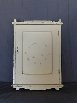 Antique Wood Surface Mount Medicine Cabinet Chest Country Old Vtg 280-18P