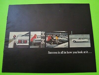 1965 PLYMOUTH DLX COLOR BROCHURE 12-pgs w/ FURY CONV'T INDY 500 PACE CAR Xlnt+