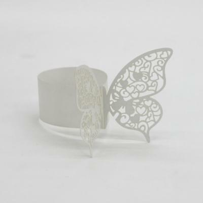 50x Butterfly Napkin Rings Serviette Buckle Holders Xmas Wedding Decor-White