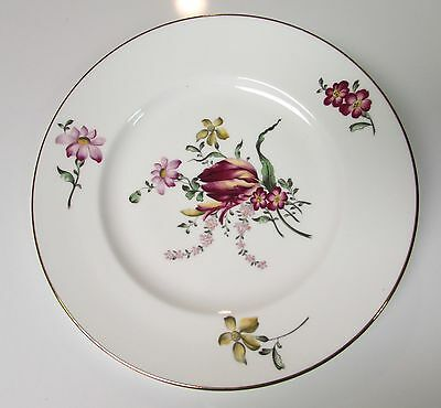"""Vtg 8.5"""" Crown Staffordshire England Floral Bouquet Luncheon Plate Bone China"""