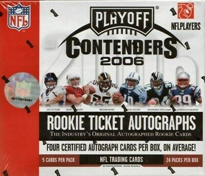 2006 Playoff Contenders Football 12 Box Case Blowout Cards