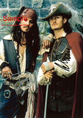 JOHNNY DEPP ORLANDO BLOOM Pirates Signed Autographed Reprint 8x10 Photo #4