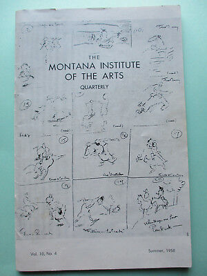 1958 Will James -Smoky- Western Americana -Montana Institute of the Arts Booklet