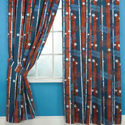 2 Of 3 DISNEY CARS STRIPES 66x 54 CURTAINS NEW BEDROOM BOYS