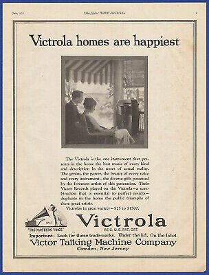 Vintage 1922 VICTROLA Victor Talking Machine His Master's Voice Print Ad 20's