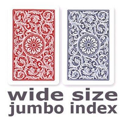Copag 1546 Red & Blue Wide - Jumbo Index Playing Cards