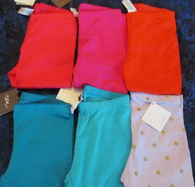 NWT 6 Tea Collection Capri Leggings Poppy Red Primrose Hollyhock Orchid Pink