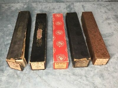 VINTAGE LOT OF 5 QRS PIANO WORD ROLLS Used & Untested Stock#B641