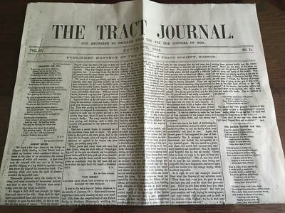 Civil War Era Christian Newspaper Reprint - The Tract Journal