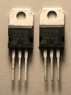 2pcs STP55NF06 TO-220 P55NF06 TO220 MOSFET Transistor