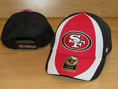 2d96e89045288 San Francisco 49ers  47 Brand MVP Touchback Adjustable Team Hat Cap Men s