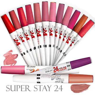 Maybelline Superstay 24 Color; 2-step Lip Color & Balm Topcoat NEW; You Pick!