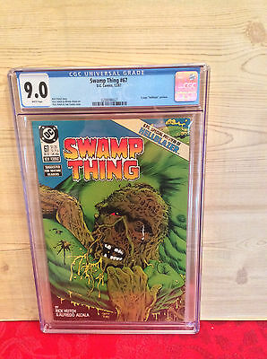 Swamp Thing #67 (Dec 1987, DC) CGC 9.2 6 page Hellblazer preview