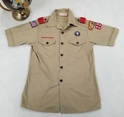 RARE 100 Year Anniversary Boy Scouts Long Beach Shirt PATCHES Youth Large 14-16