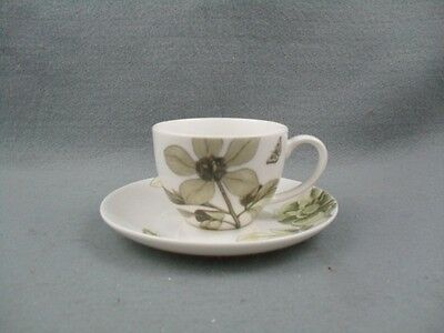 Queen's Etchings & Roses Coffee Cup & Saucer
