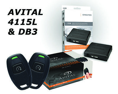 Avital 4115L 1-Button Remote Start & DB3 Bypass  (2) 1-Button Remotes D2D NEW