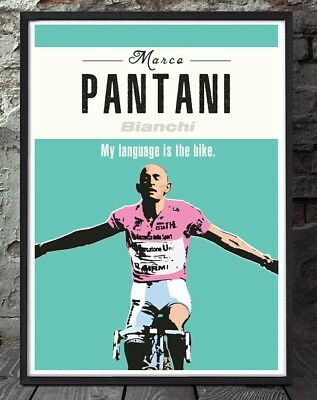 Pantani giro d'italia bicycle poster. Specially created