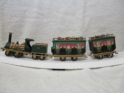"""Retired Department 56 Dickens Village """"The Flying Scot Train"""" set of 4   #55735"""