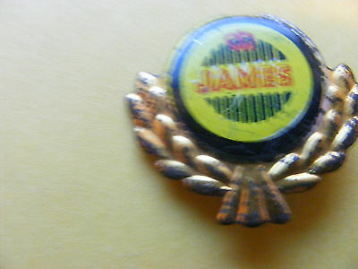 JAMES  motorcycle very old lapel,hat pin badge.(A).