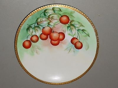 Limoges Hand Painted Decorative Artist Signed Suken Collector Plate Gilt Rim