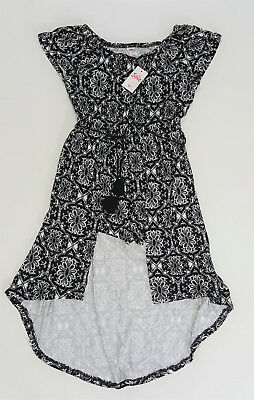 NWT Justice Kids Girls Size 8 or 20 Black White Knit Hi Lo Skirted Shorts Romper