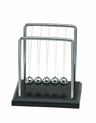 Tick Tock Ball Game Wood Ball - Newtons Cradle Pendulum - Home Accessory - 14cm
