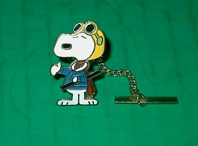 Vintage Peanut's Snoopy Flying Ace Tie Tack Pin-United Features Aviva