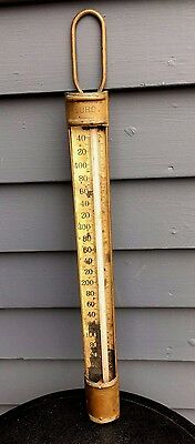Antique Duro Palmer commercial industrial factory copper candy thermometer
