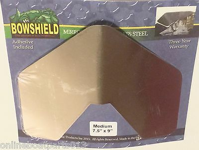 "BOAT MIRROR FINISH BOAT BOW EYE PLATE, 7.5"" x 9"", BOWSHIELD / KEELSHIELD BRAND"