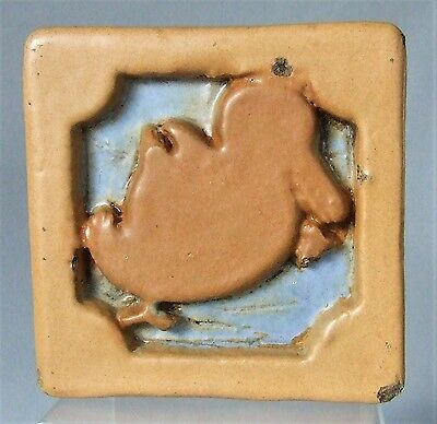 Terra Cotta Block Tile Duck Architectural Salvage Early 20th Century Art Deco