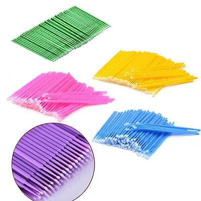 100 Pcs Micro Brush Disposable Microbrush Applicators Eyelash Extensions Swab DN