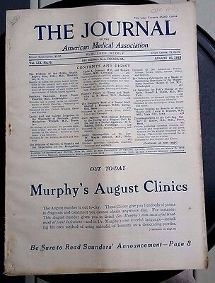 Antique JAMA Journal American Medical 1912 articles ads physician interest EVC!!