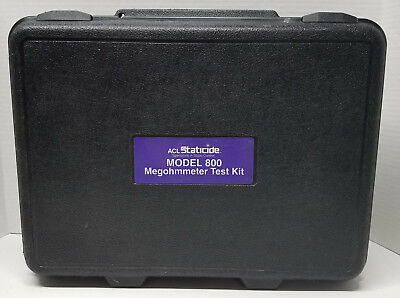 ACL Staticide ACL800 Megohmmeter Surface Resistance & Resistivity Test Kit