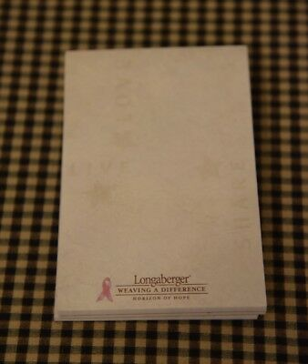 "Longaberger 2003 Horizon of Hope Notepads  4"" x 6"" Note Pads - Set of 3"