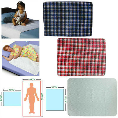 Washable Waterproof Incontinence Bed Seat Pads Protection Sheet 5 Sizes Optional