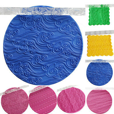 Textured Embossing Acrylic Rolling Pin Fondant Cake Decoration Tools Styles NEW