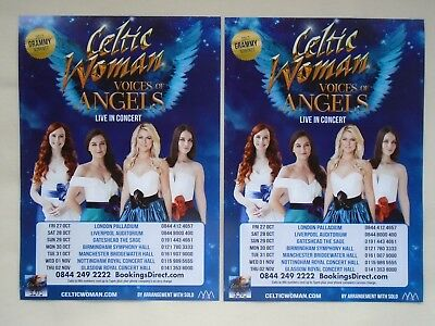 CELTIC WOMAN Live in Concert Voices of Angels 2017 UK Tour Promo tour flyers x 2