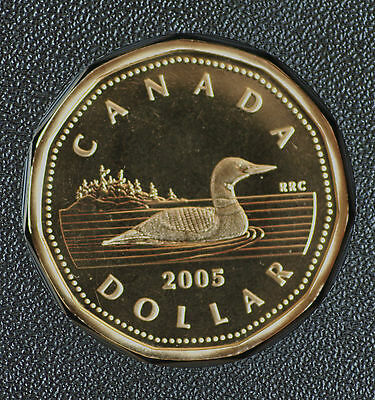 2005 Canada Classic design Loonie from double dollar set -  proof finish