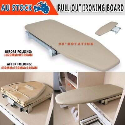 Pull Out Folding Ironing Board Plate Car Carbinet Drawer Mounted with Cover