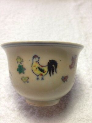 Rare Antique Chinese Porcelain Famille Rose Tea Cup Signed