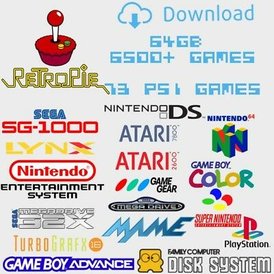 Retropie 4.3 64Gb DOWNLOAD ONLY - Retro Gaming Image Including 73 PS1 Games