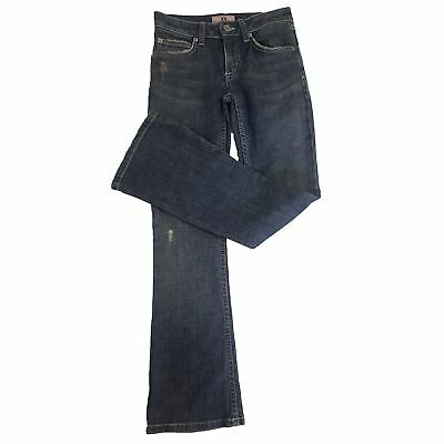 Juicy Couture Girls / Teens Worn Effect Blue Denim Jeans Age 8 [8, LL_1440]
