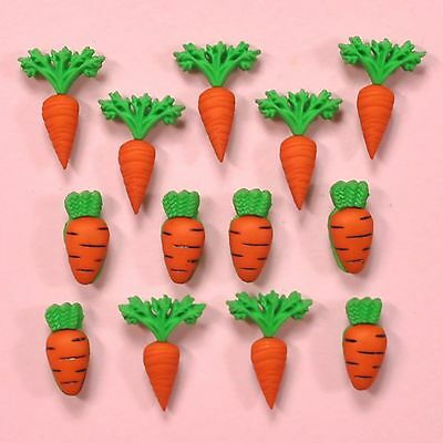 DRESS IT UP Buttons Carrot Crop 3501  - Easter Embellishments Rabbits Carrots