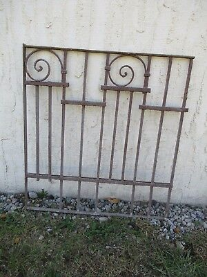 Antique Victorian Iron Gate Window Garden Fence Architectural Salvage Door #060